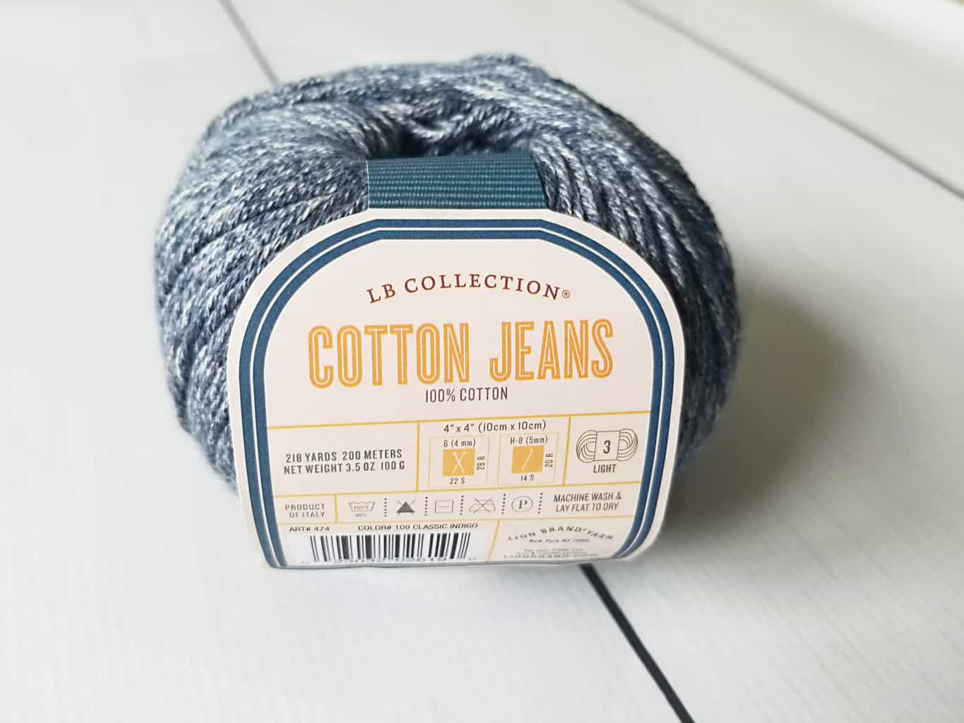 Lion Brand Cotton Jeans Yarn
