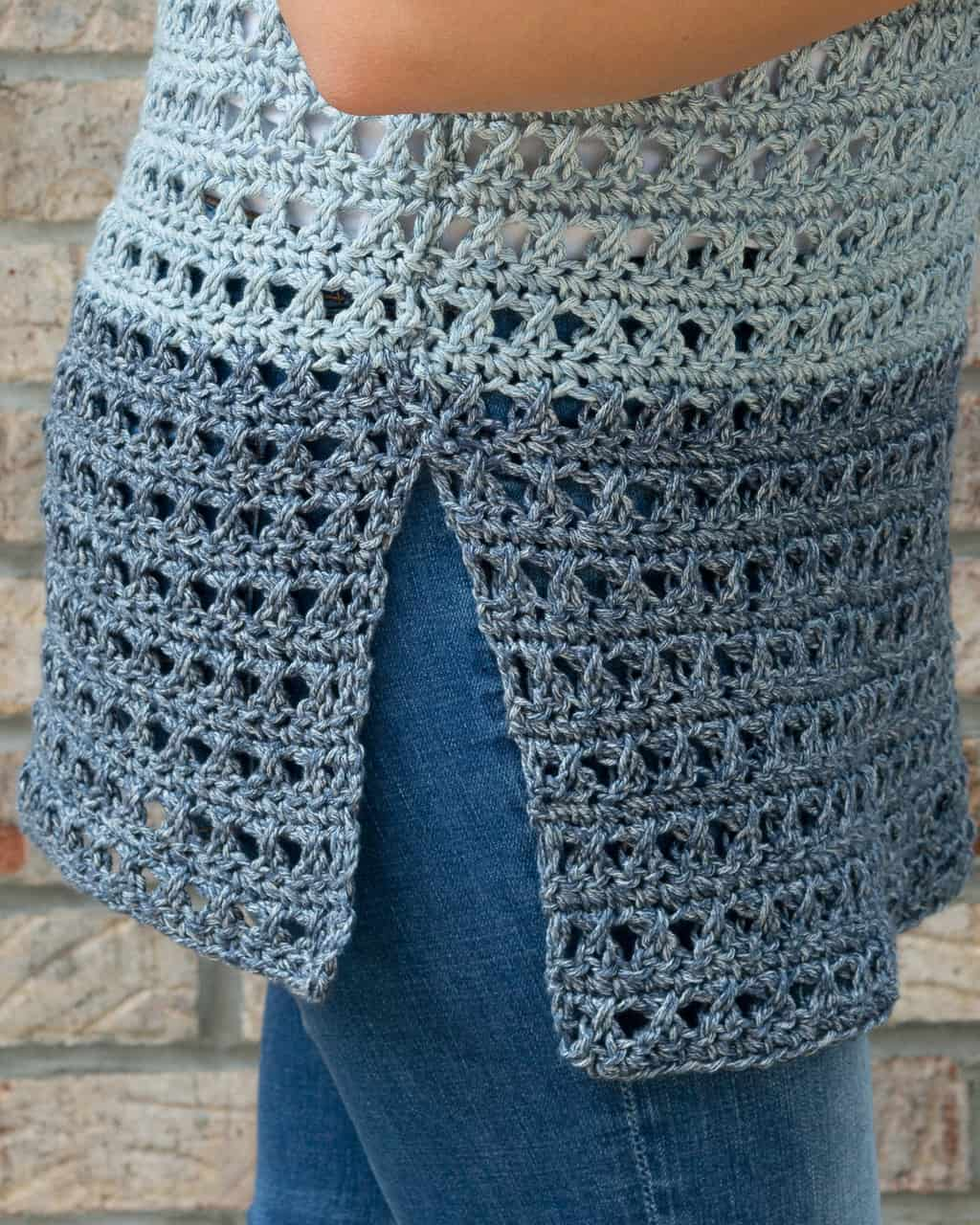 Side Seam of a crochet top