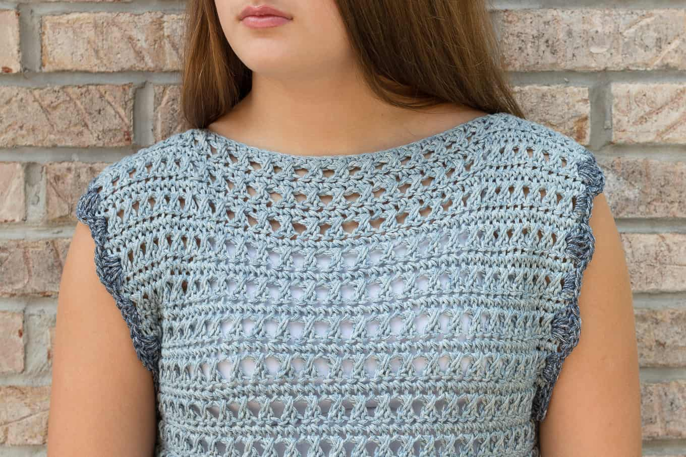 Crochet top Neckline