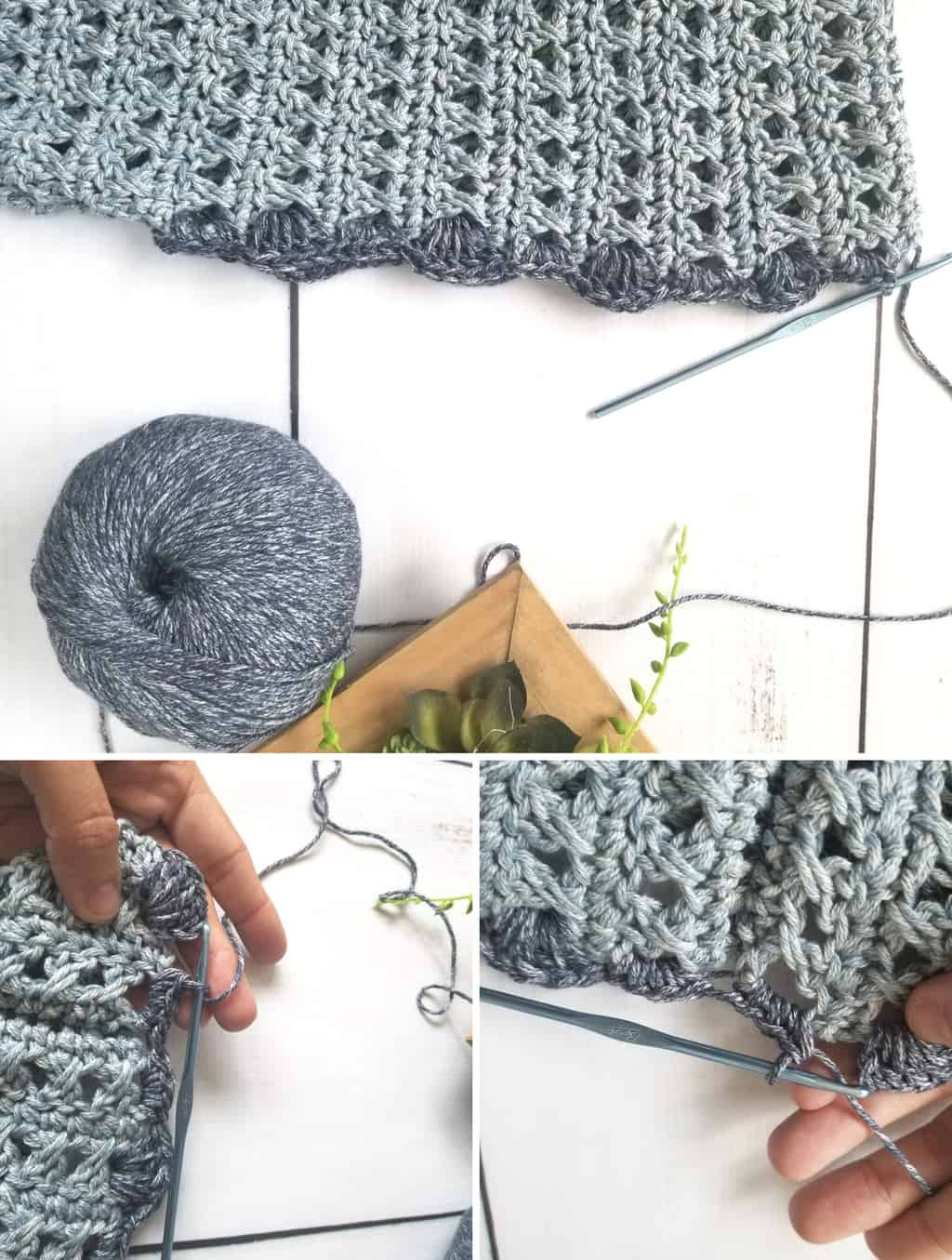 How to add detail to a crochet top