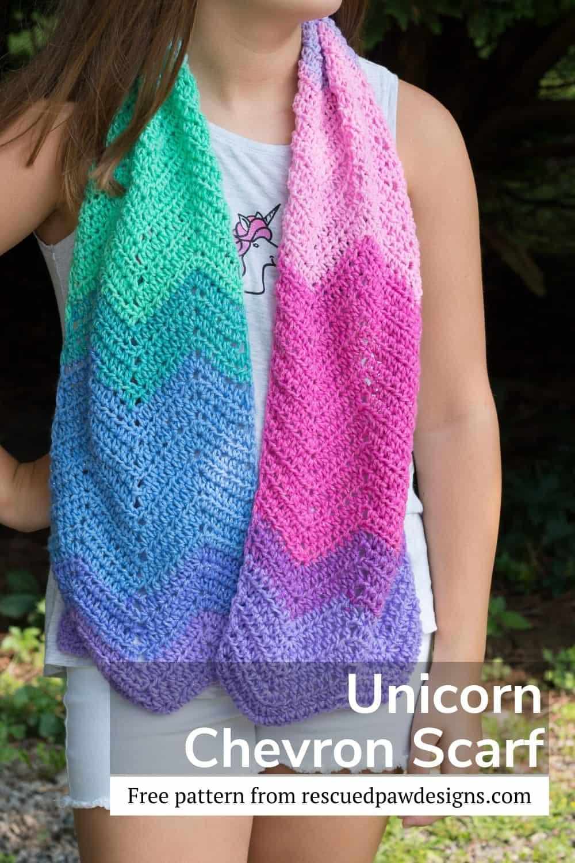 Crochet scarf pattern using Mandala Yarn via @easycrochetcom
