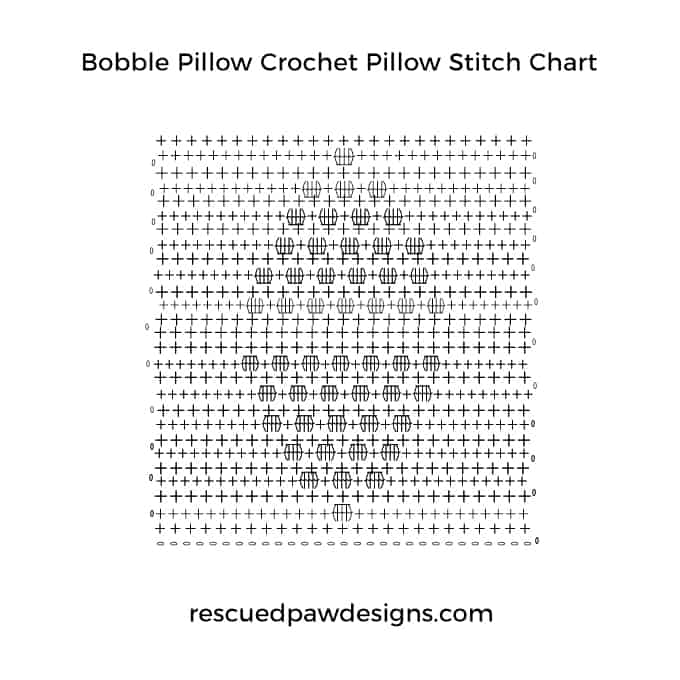 Bobble Stitch Crochet Stitch Chart