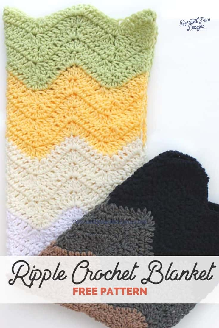 Ripple Crochet Baby Blanket