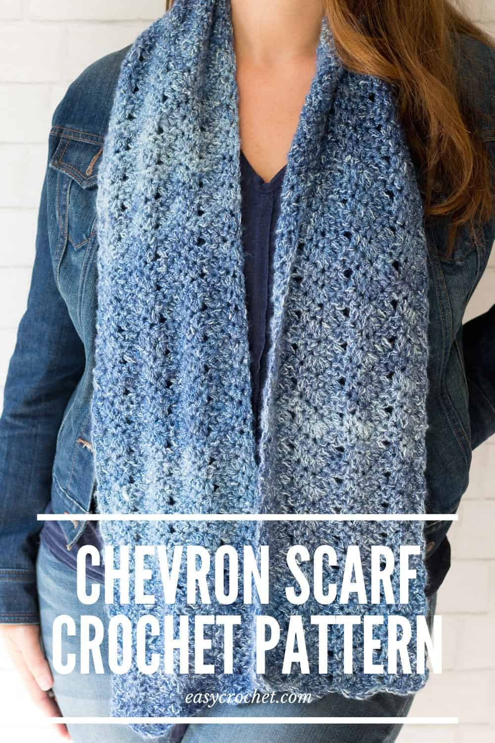 Chevron Scarf Crochet Pattern via @easycrochetcom