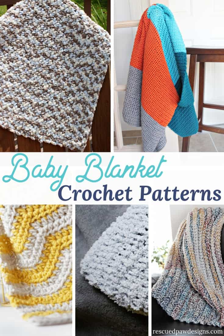 Free Crochet Baby Blanket Patterns Rescued Paw Designs