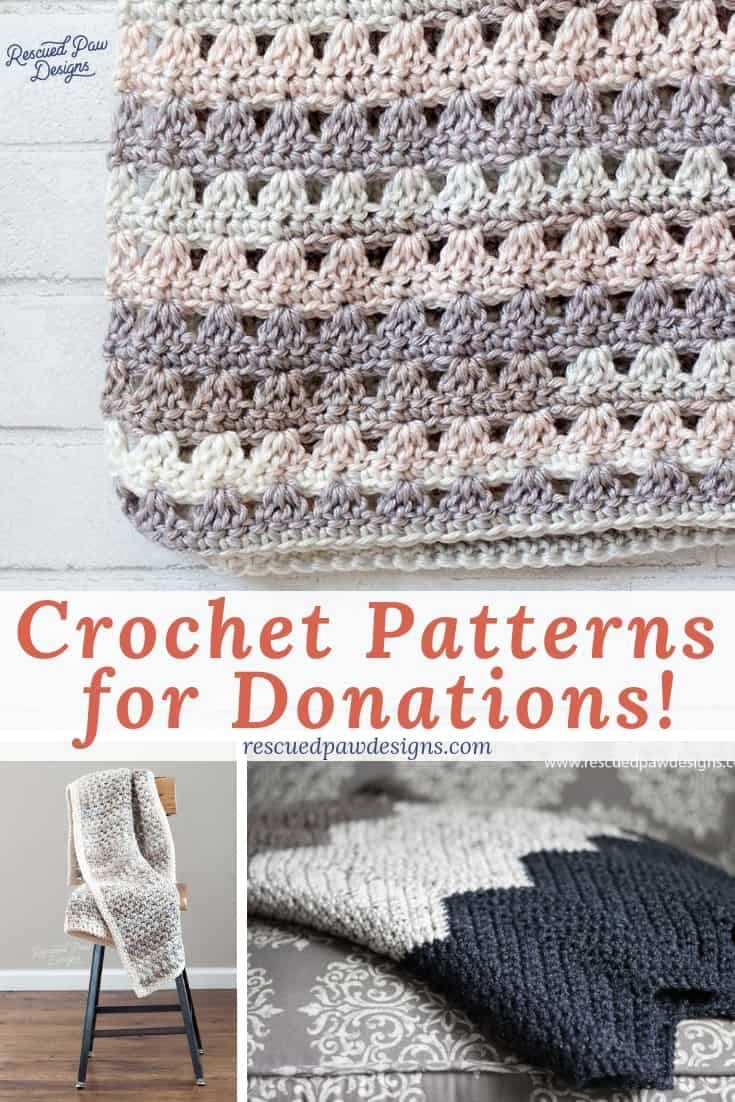 7 Blanket Crochet Charity Patterns For Donations Rescued Paw Designs
