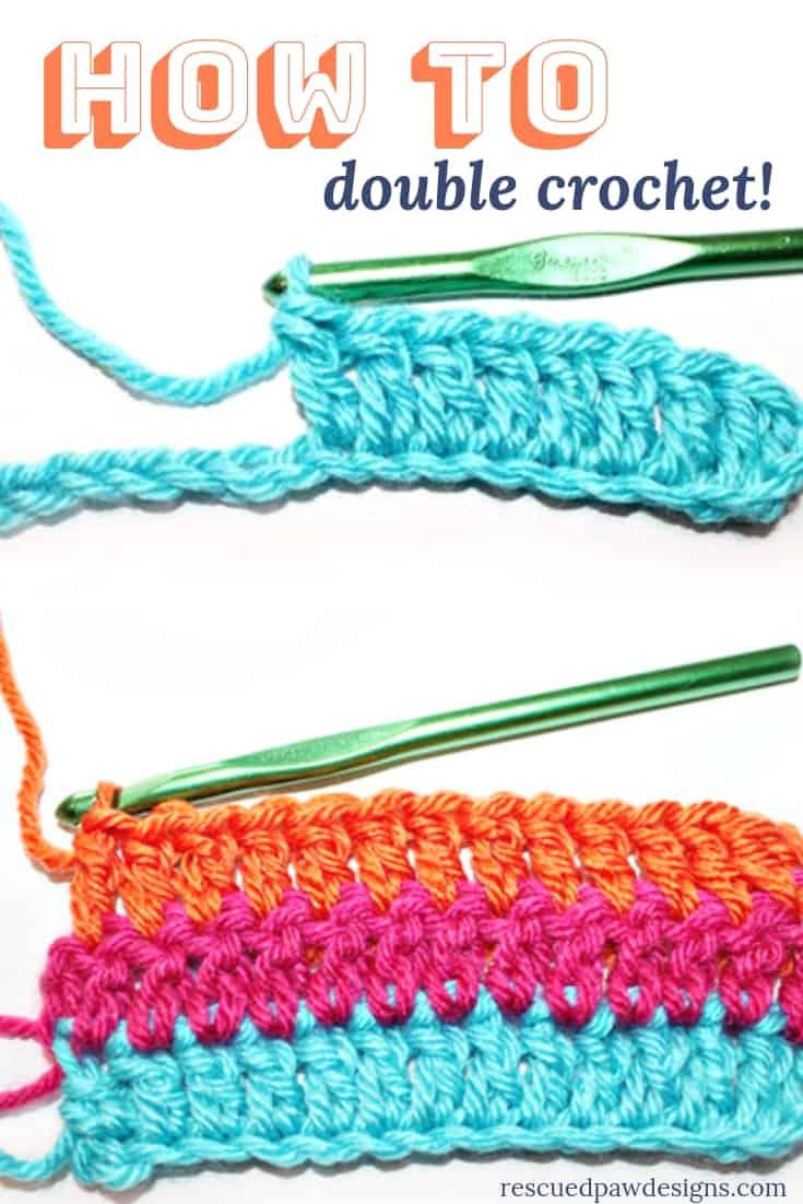 How to Double Crochet Tutorial