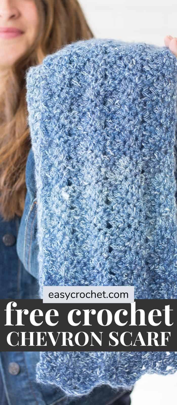 Luna Chevron Scarf Crochet Pattern via @easycrochetcom