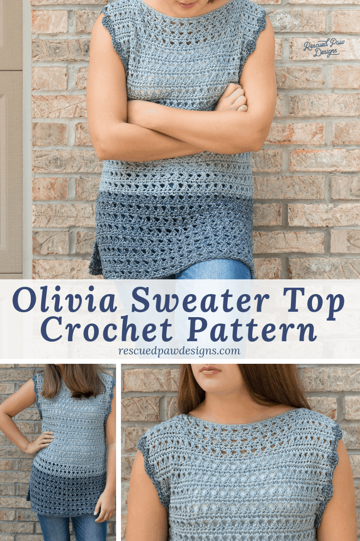 Crochet Pattern for A Light Weight Ladies Sweater Top