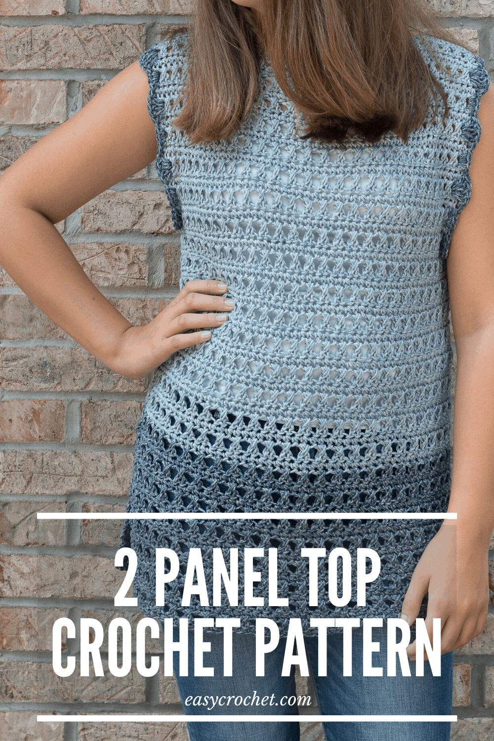 Free Crochet Top Pattern in SIX different sizes! Find the pattern at easycrochet.com #crochettop #freecrochetpattern #crochet #rescuedpawdesigns via @easycrochetcom
