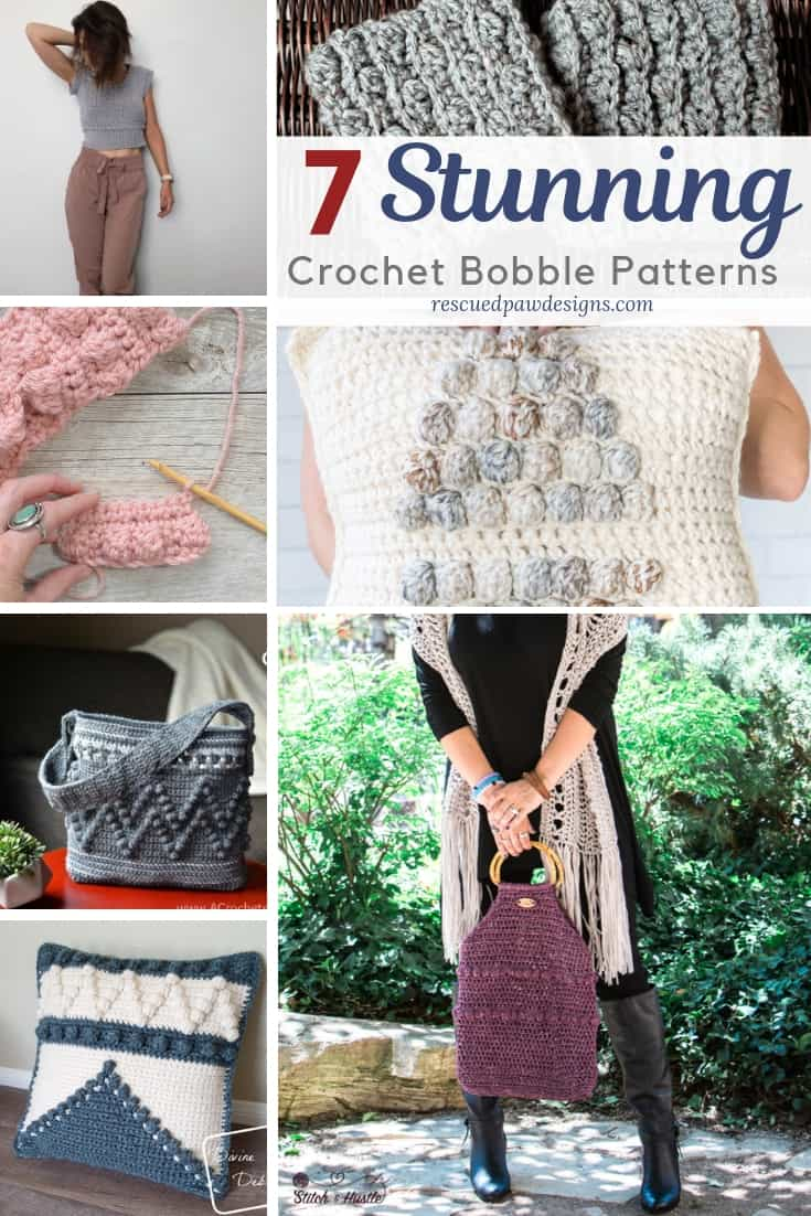 bobble stitch crochet patterns via @rescuedpaw