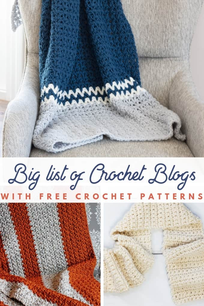 The BIG list of FREE crochet pattern blogs that ALL have free crochet patterns!