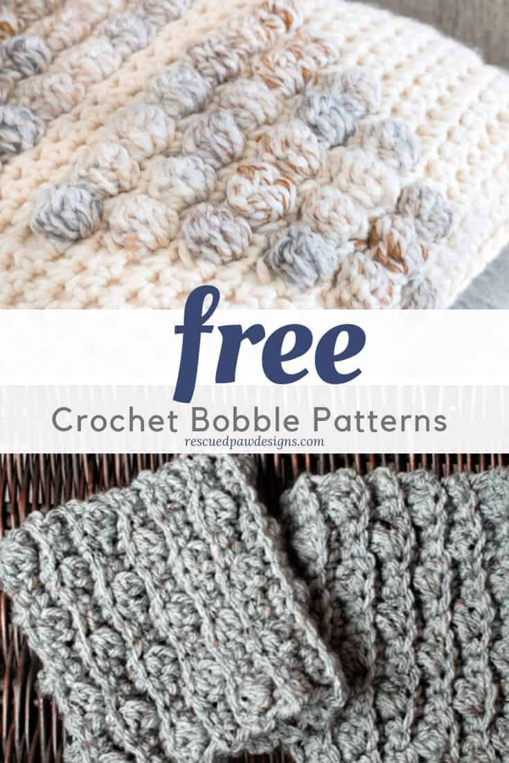 Crochet Patterns that Use the  Bobble Stitch