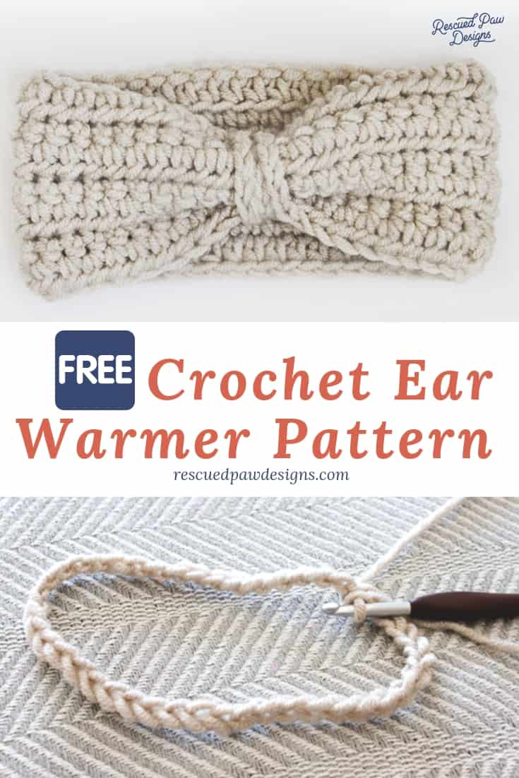 Crochet Ear Warmer Pattern via @rescuedpaw