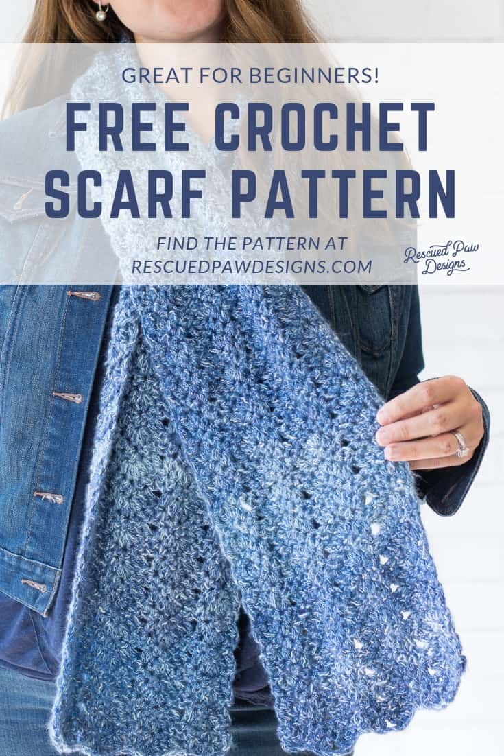 Free Crochet Scarf Pattern using Shawl In a Cake Yarn