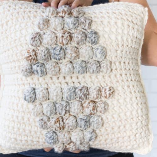 Crochet Bobble Pillow Cover Pattern