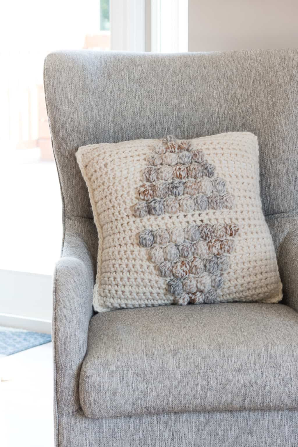 Crochet Bobble Stitch Pillow Pattern