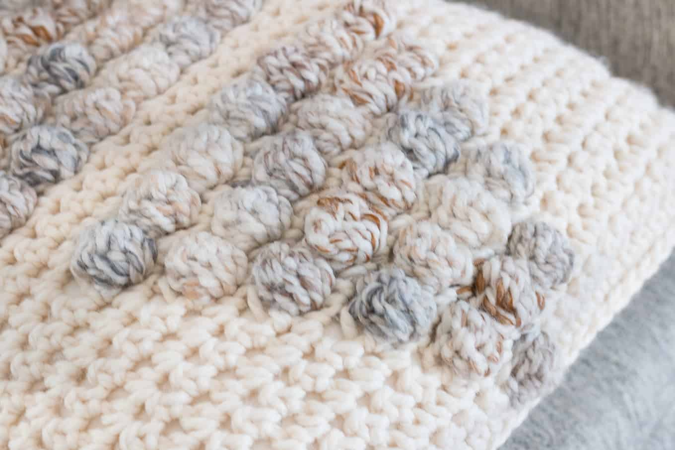 Bobble Stitch Crochet Stitch Close up