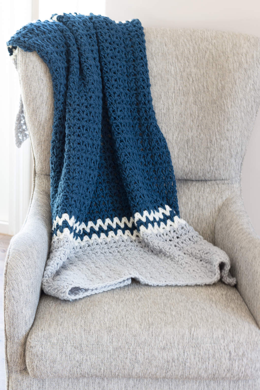 Double Crochet V Blanket Pattern