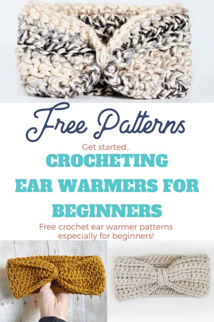 Crochet Ear Warmer Patterns that are great for Beginners!