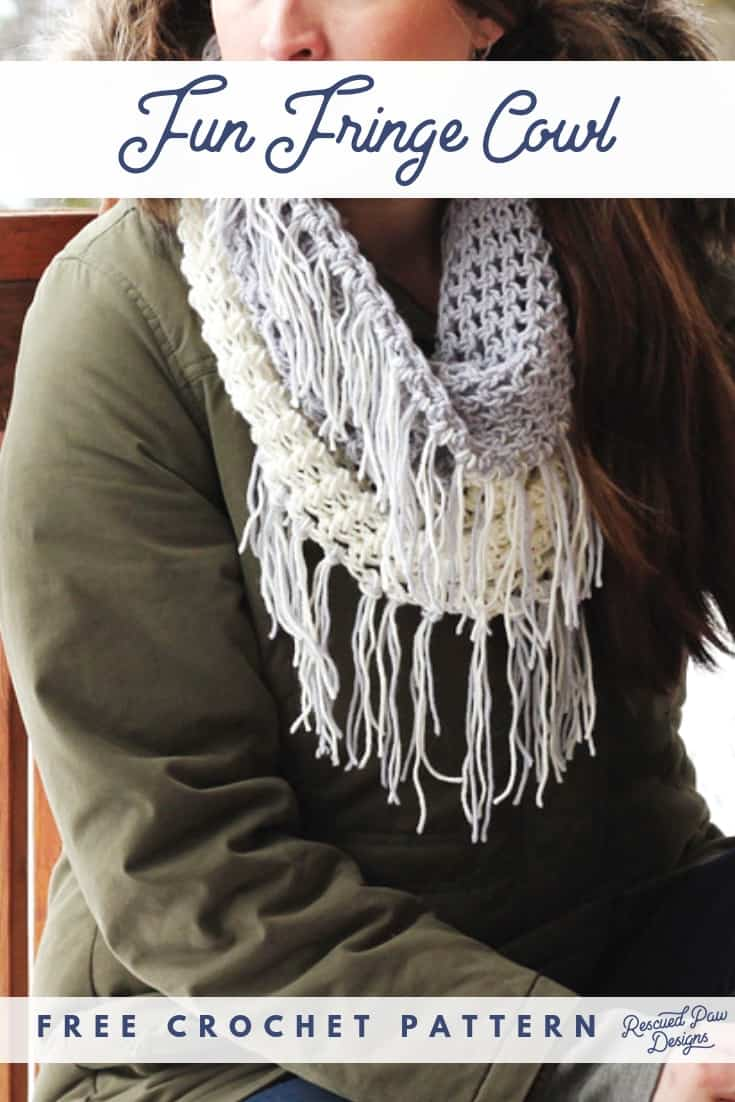 crochet scarf with fringe