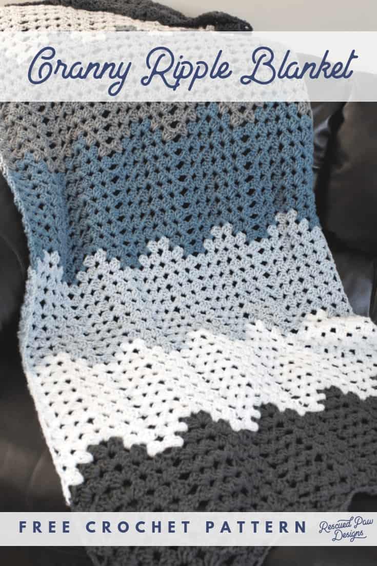 Granny Ripple Blanket Crochet Pattern Crochet Ripple Blanket