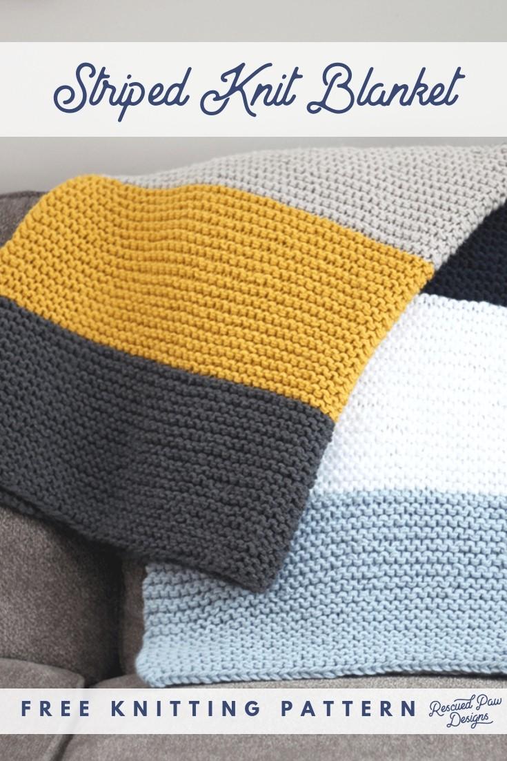 Beginenr Knit Blanket Pattern