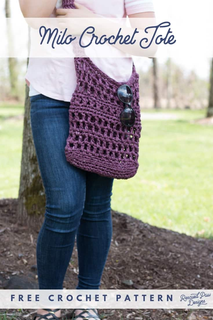 Crochet Market Tote Bag - Free Crochet Pattern from Rescued Paw Designs
