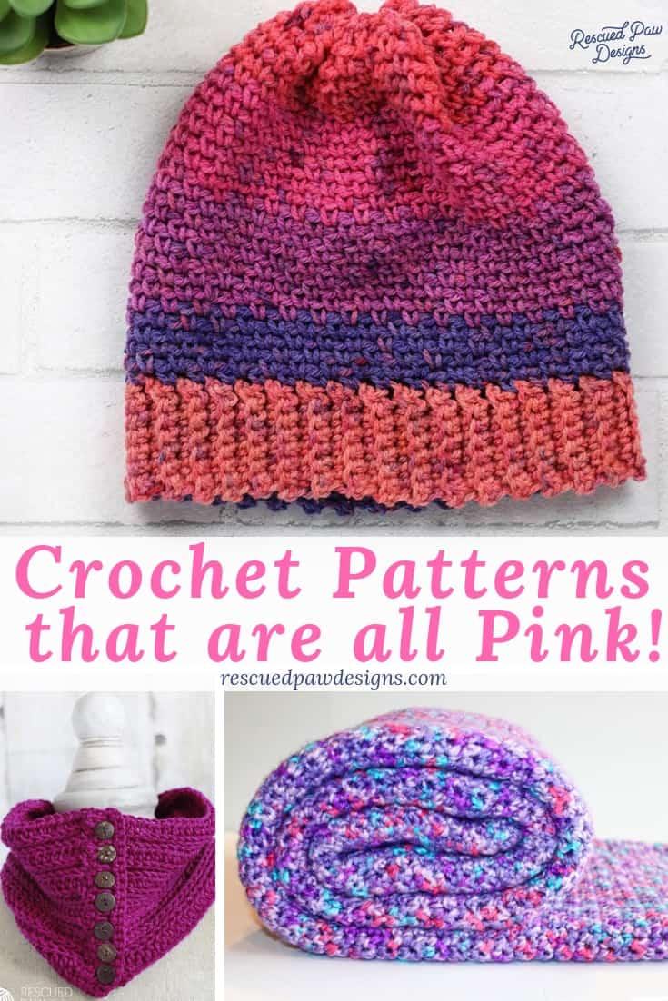 pink crochet pattern -crochet patterns pink
