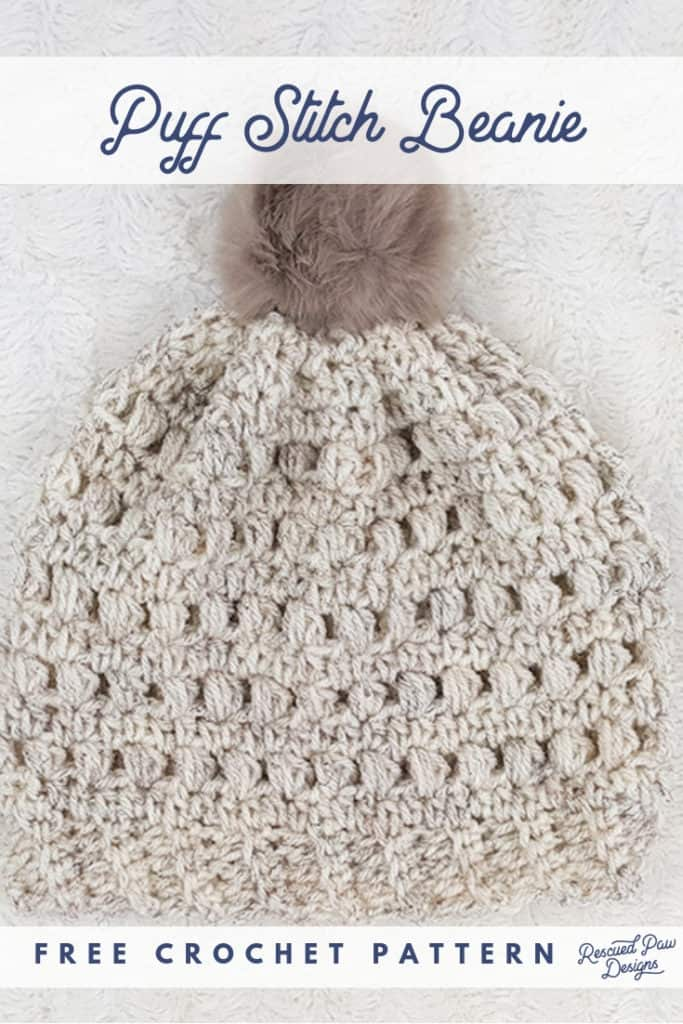 Crochet Puff Stitch Beanie Pattern