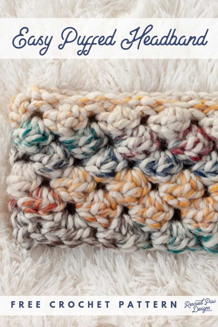 Crochet Puff Stitch Headband Pattern