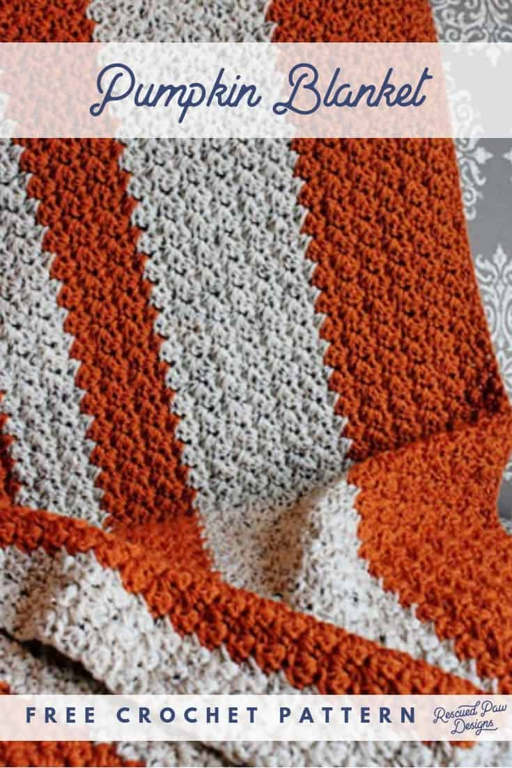 Crochet Pumpkin Pattern BLanket