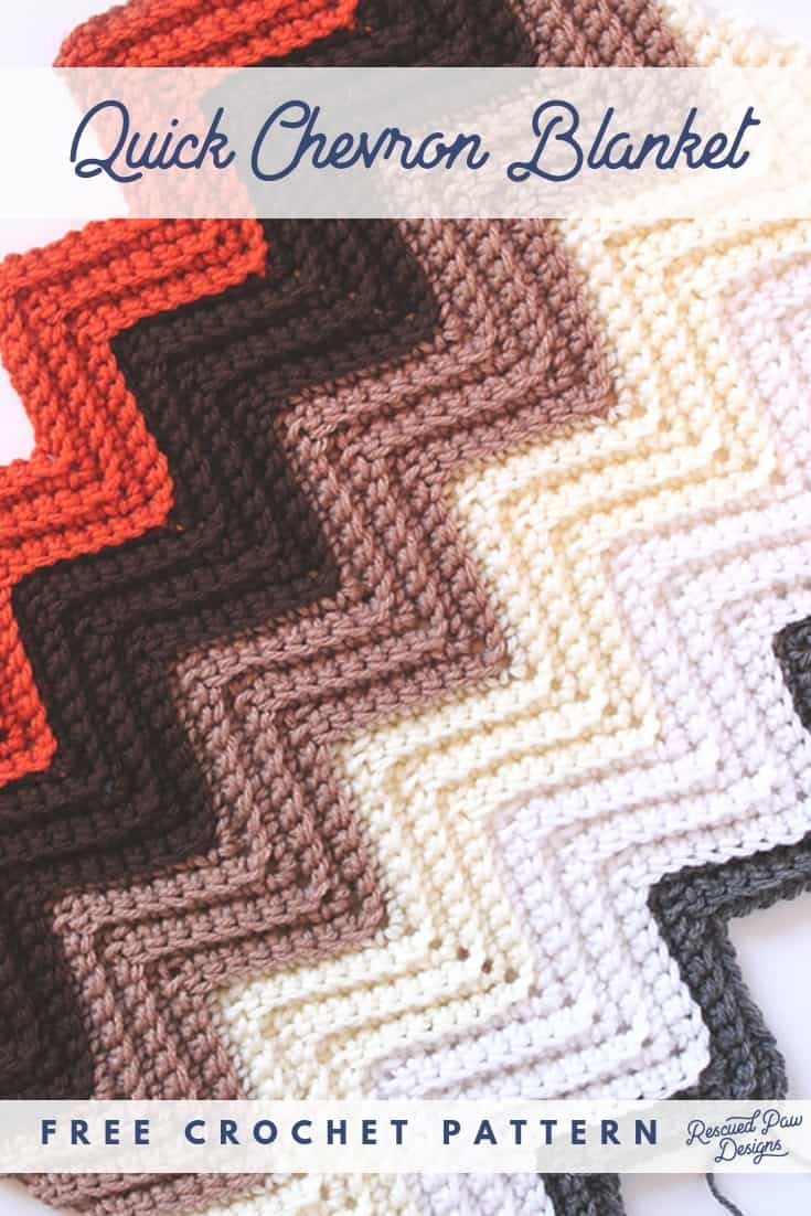 Quick Chevron Crochet Blanket Pattern