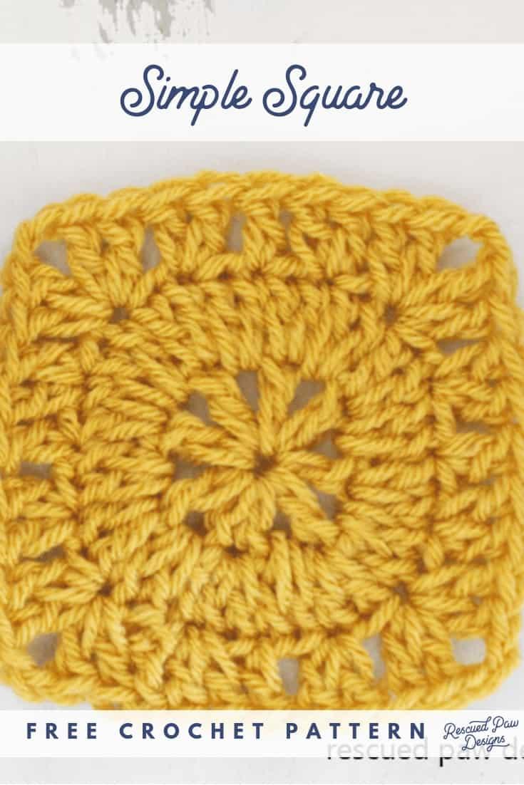 Simple Crochet Square Pattern