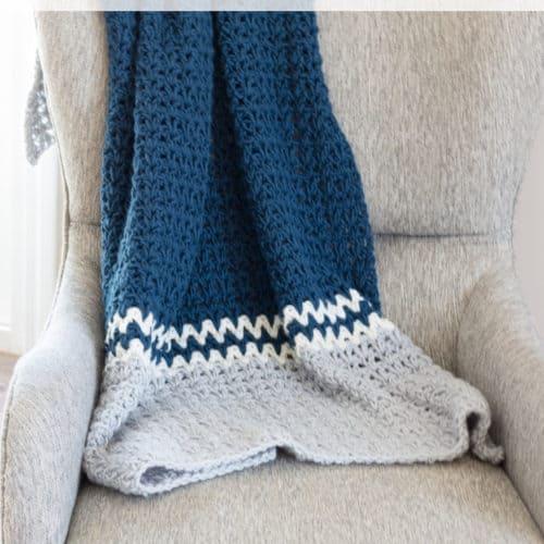 Easy V- Stitch Crochet Blanket Pattern