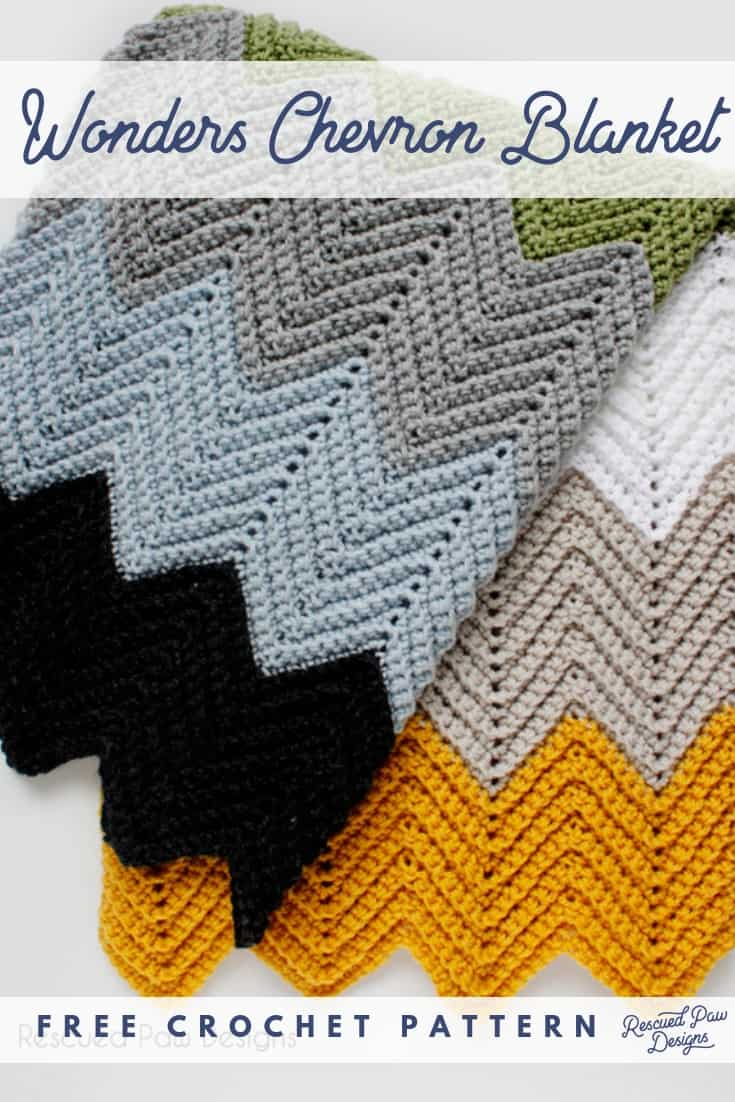 How to Crochet a Chevron Blanket