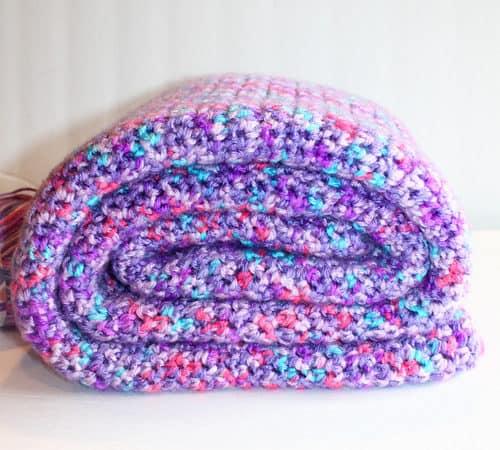 Pink Crochet Baby Blanket Pattern