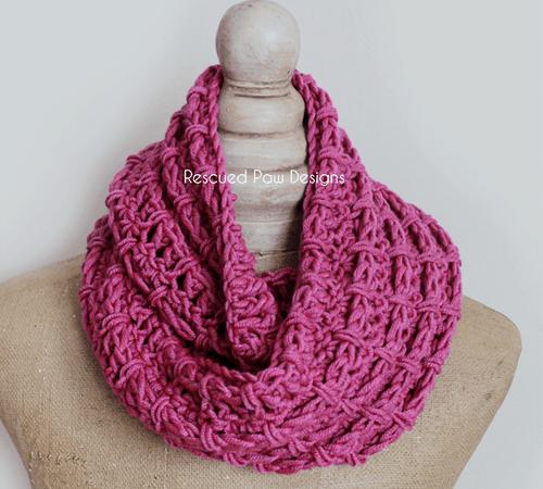 Pink Crochet Cowl Pattern