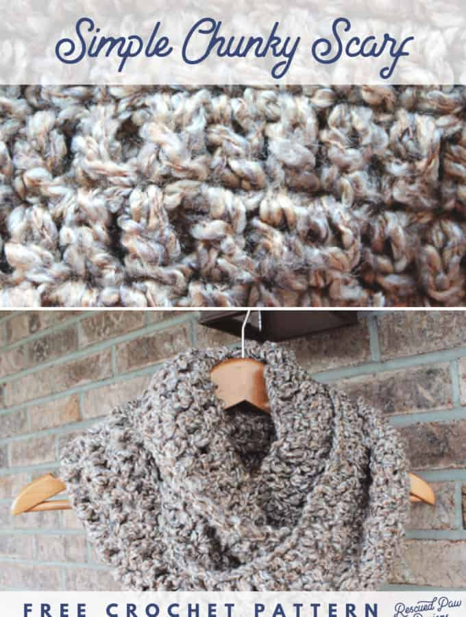 Simple Chunky Crochet Scarf
