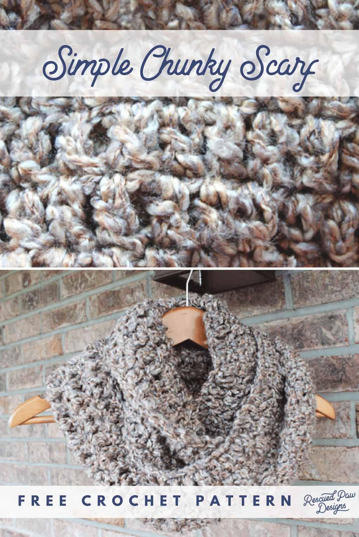 Chunky Crochet Scarf Pattern