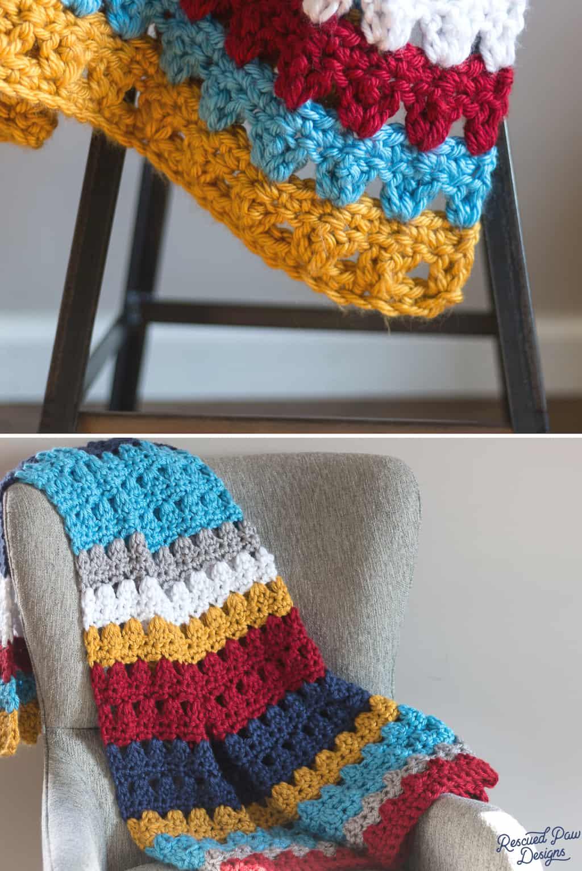 Colorful Crochet Blanket Pattern