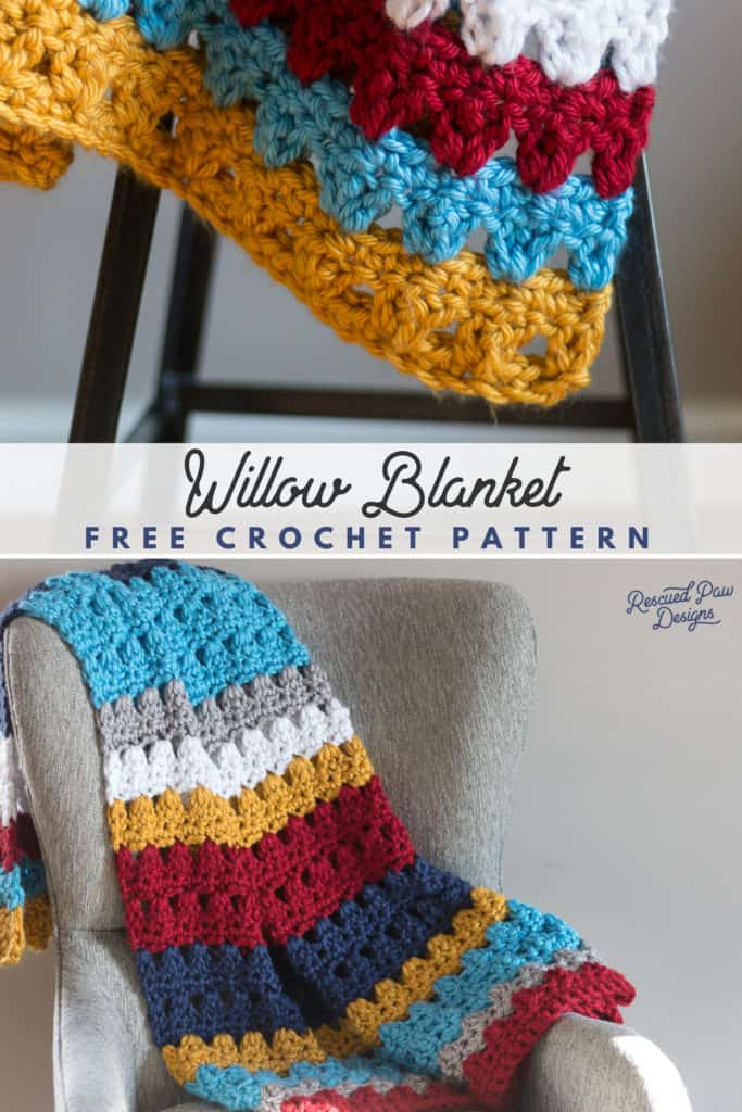 7 Free Crochet Afghan Patterns Rescued Paw Designs