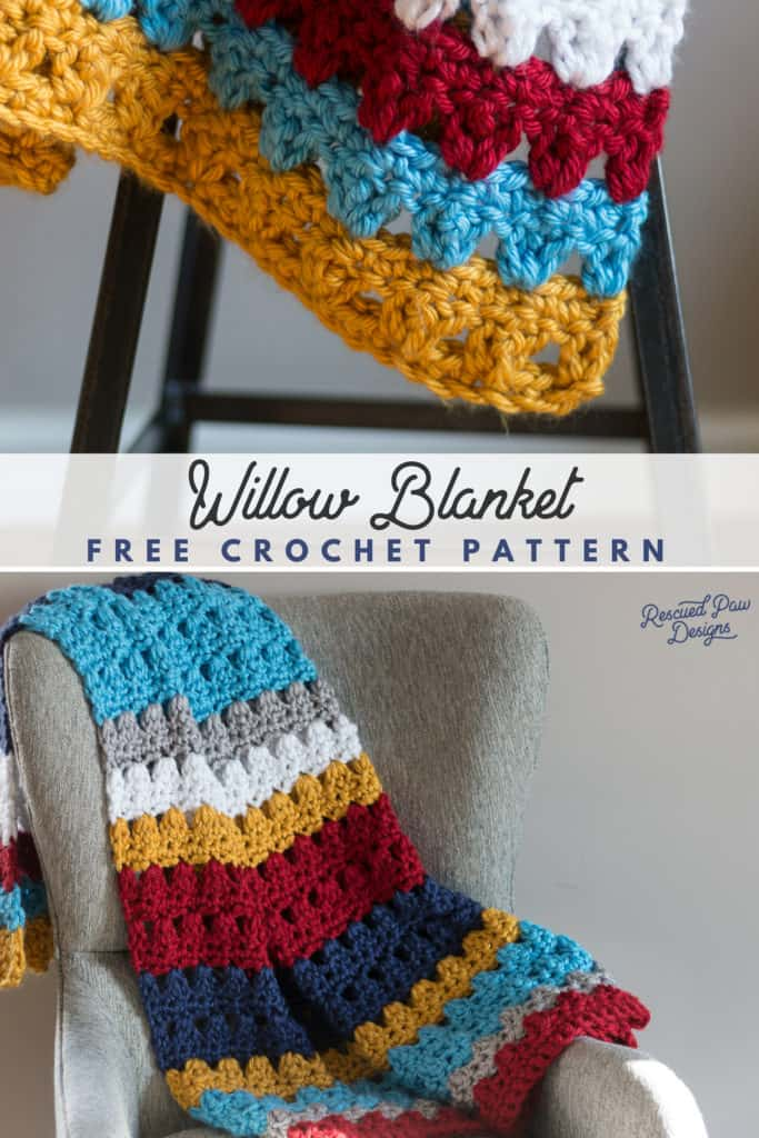 colorful crochet throw blanket pattern - free crochet blanket