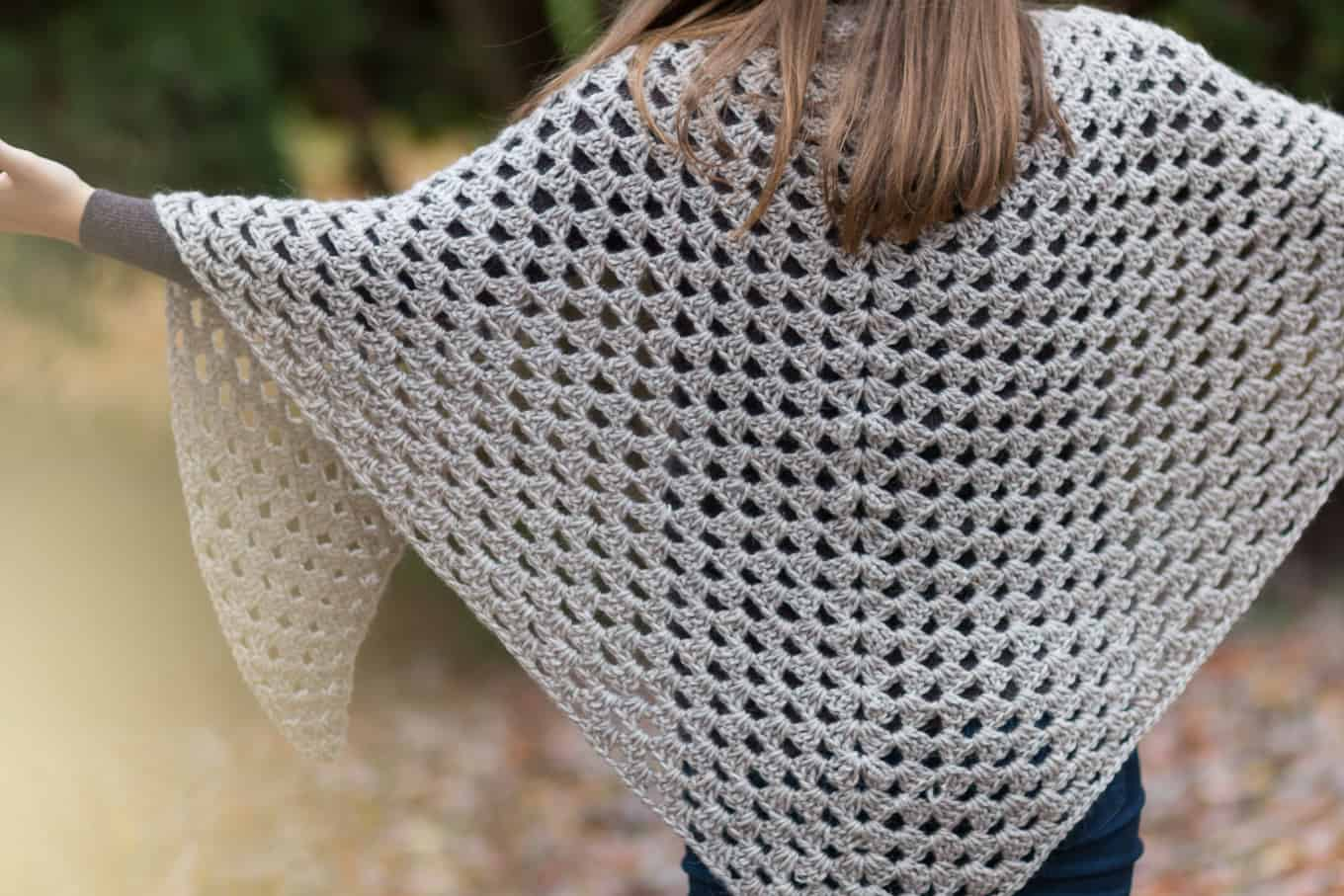 Free Crochet Shawl Granny Pattern Rescued Paw Designs