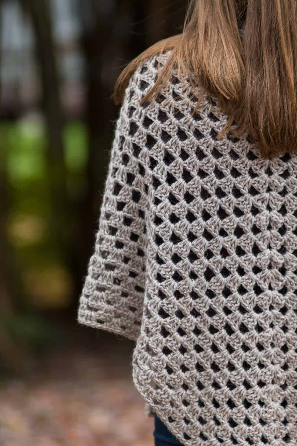 Stitches of a Granny Crochet Shawl Pattern