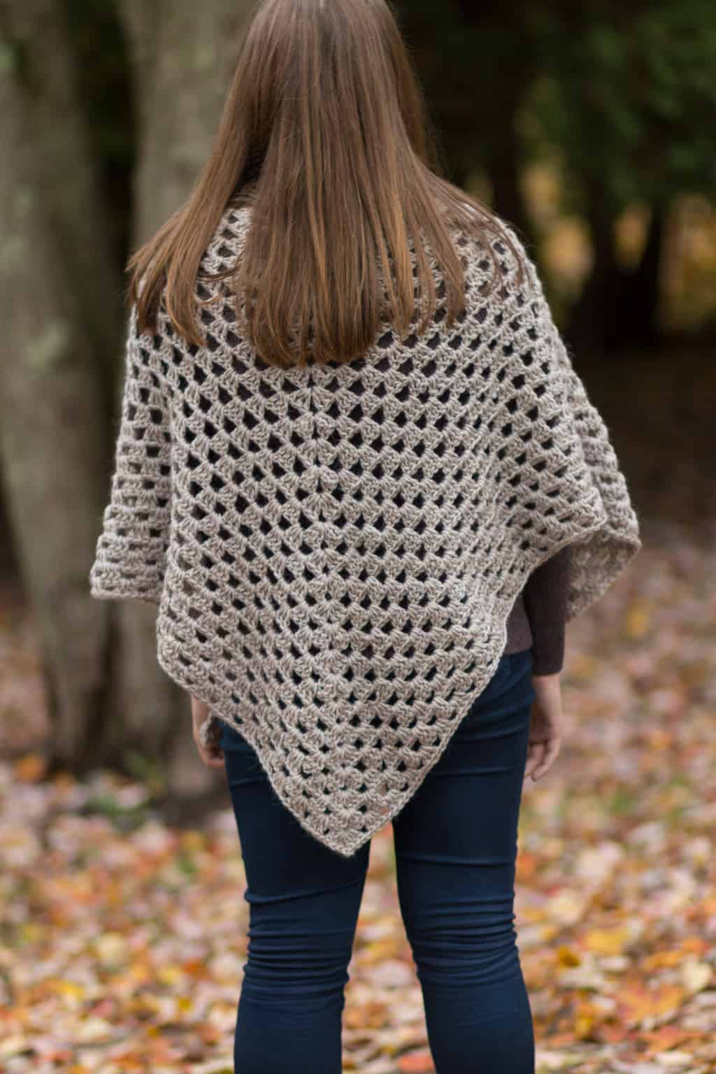 Back of a Crochet Granny Shawl - Simple Crochet Pattern