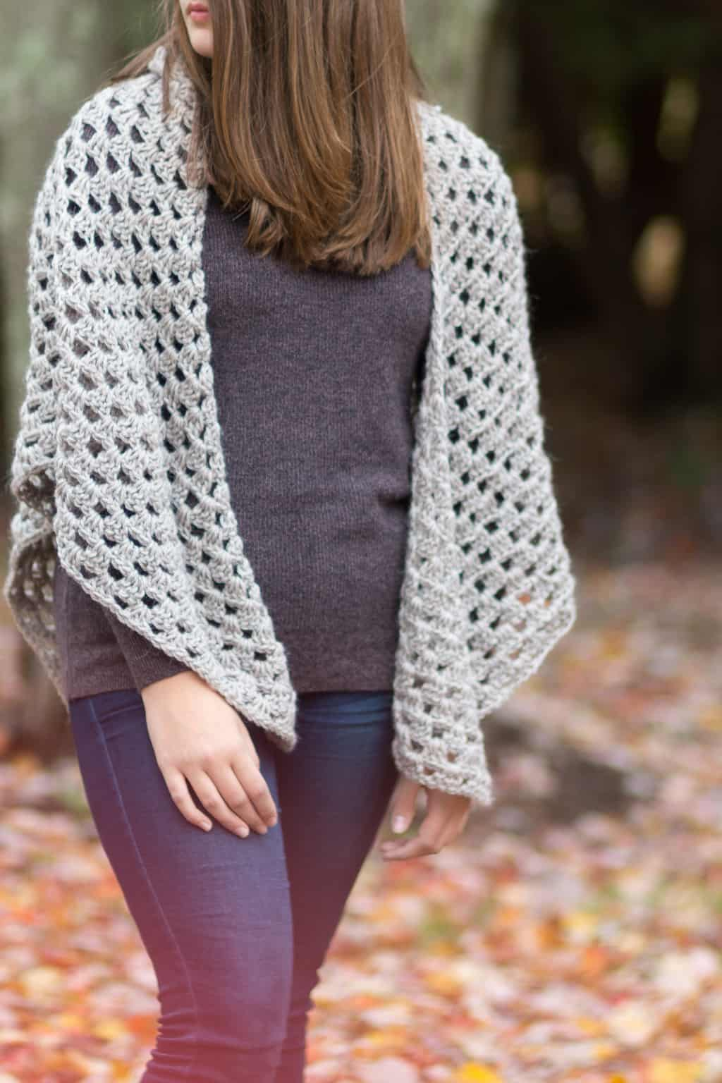 Quick & Easy Granny Shawl Crochet Pattern Free