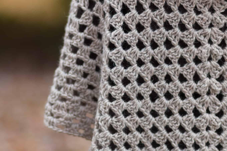 Stitch Definition of a Granny Shawl Pattern