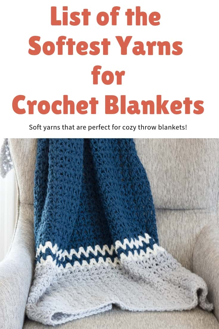List of the Softest Yarn for Crochet Blankets from Rescued Paw Designs - See which 3 that I recommend and use to make cozy soft blankets! #softyarns via @rescuedpaw