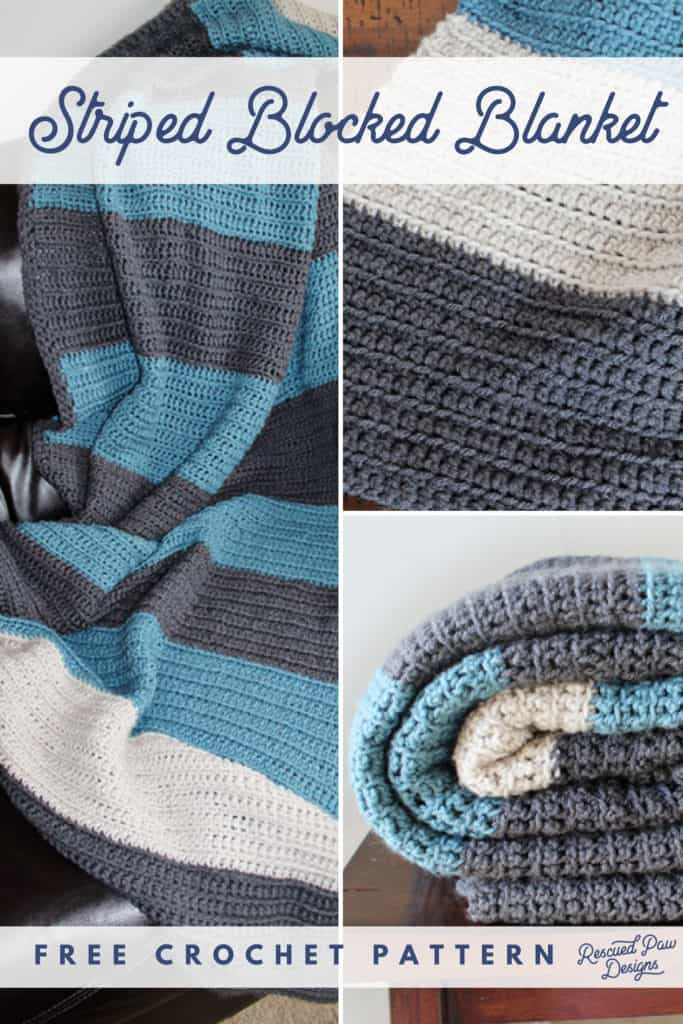 Easy Striped Crochet Blanket